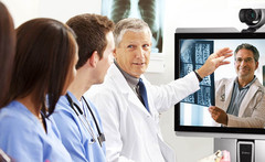 Using video conferencing in hospitals