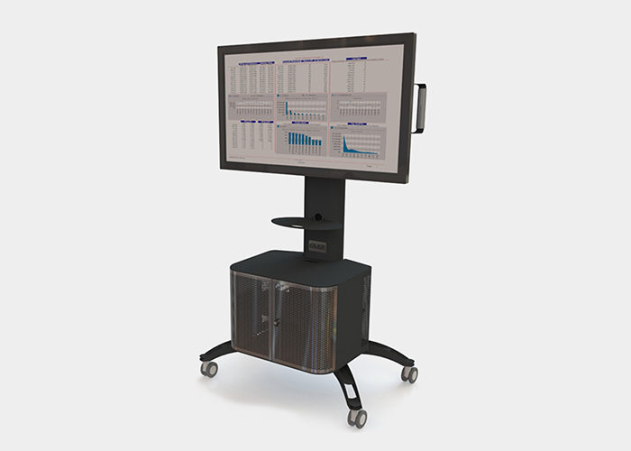 Gilkon Single Screen Mobile Stand with Cabinet