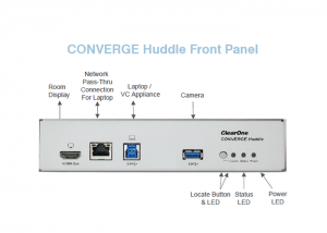ClearOne-CONVERGE-Huddle-front-panel-view