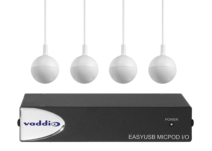Vaddio EasyUSB MicPOD I/O with Four CeilingMICs