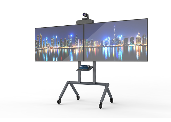 Dual Display for Heckler AV Cart Prime H700