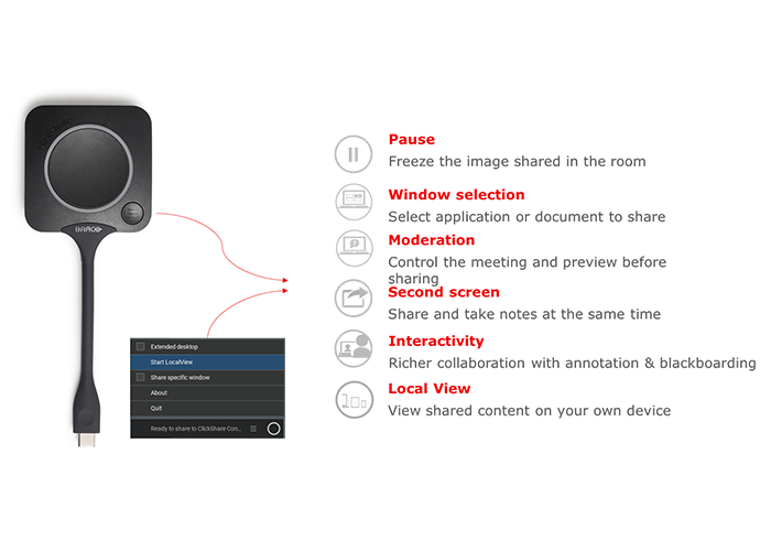 Barco-ClickShare-CX-wireless-conferencing-USB-C-Button-functions