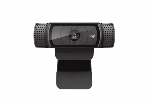 Logitech-C920e-FullHD-Webcam-front-view-hinge-bracket