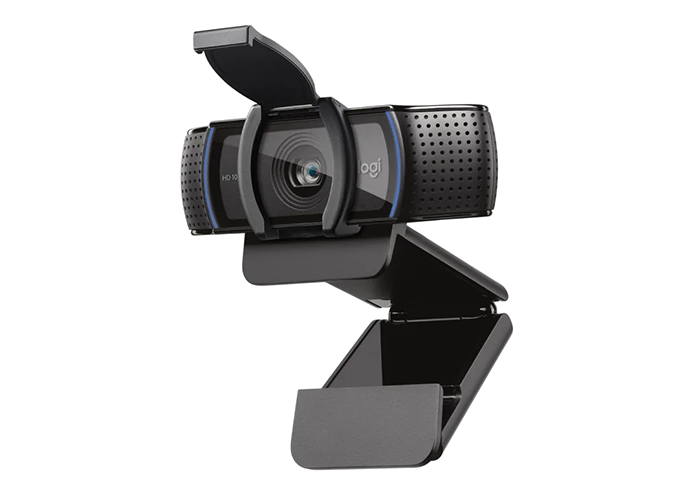 Logitech-C920e-FullHD-Webcam-right-side-view-with-privacy-shutter