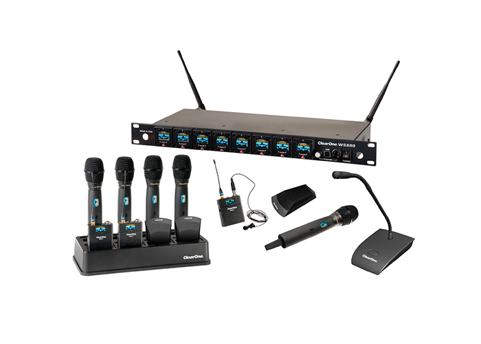 ClearOne-WS880-8-channel-Wireless-Microphone-System-Receiver-with-all-microphone-options
