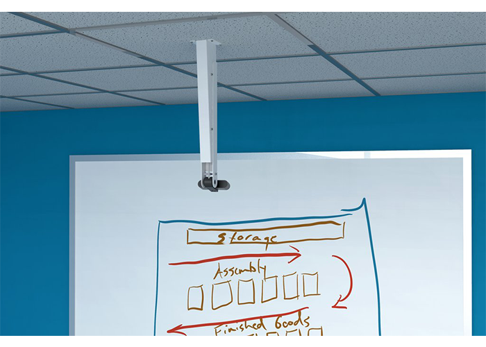 H573-Heckler-Design-Ceiling-Mount-for-Logitech-Brio-webcam-with-pole-projection-screen-lifestyle-closeup