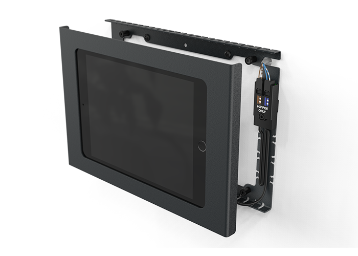 H565-Heckler-iPad-Mini-Wall-Mount-plus-Power-horizontal-right-side-view-wall-mount-attachment