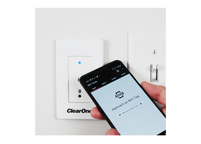 ClearOne-CONVERGE-Wall-Mount-Bluetooth-Expander-910-3200-303-NFC-tap-to-pair-for-simple-mobile-connectivity