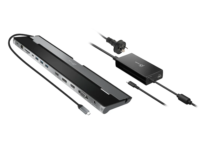 USB-C Triple Display Docking Station with 100W PD Adapter