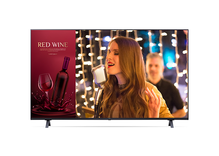 LG-UR640S-Series-UHD-Commercial-Signage-4K-TV-front-view-screen-on