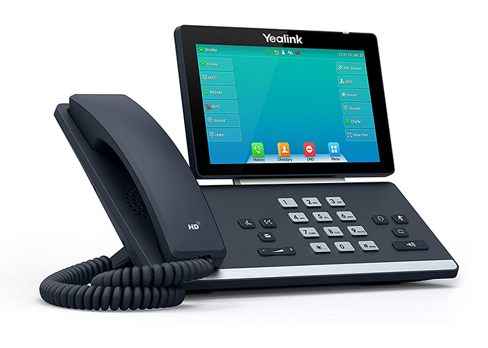 Yealink-SIP-T57W-Executive-Phone-left-side-view