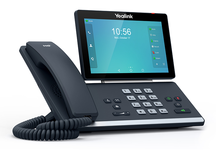 Yealink-SIP-T58A-Executive-Phone-with-Visual-Communication-left-side-view