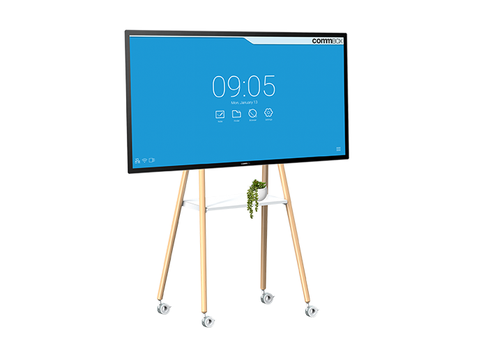 CommBox-Mobile-Stand-EASEL-CBMOBL-WH-White-front-view