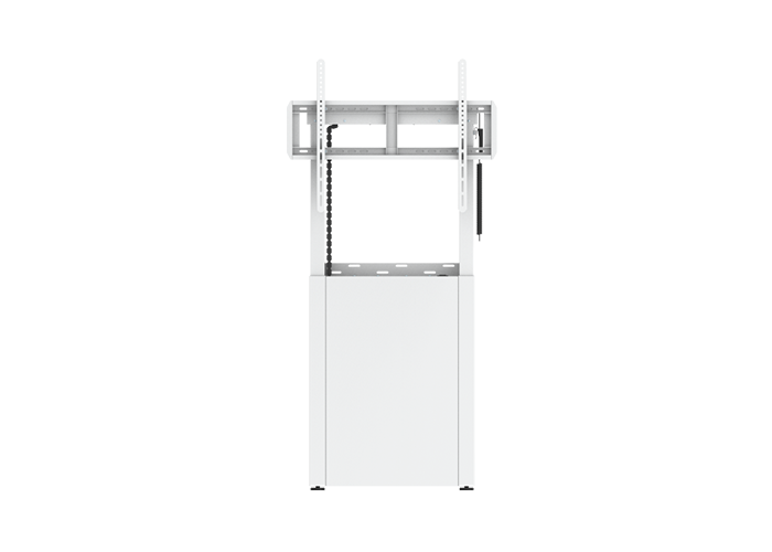 CommBox-Motorised-Height-Adjustment-Fixed-Wall-Mount-URBAN-White-CBWALU-WH-front-view